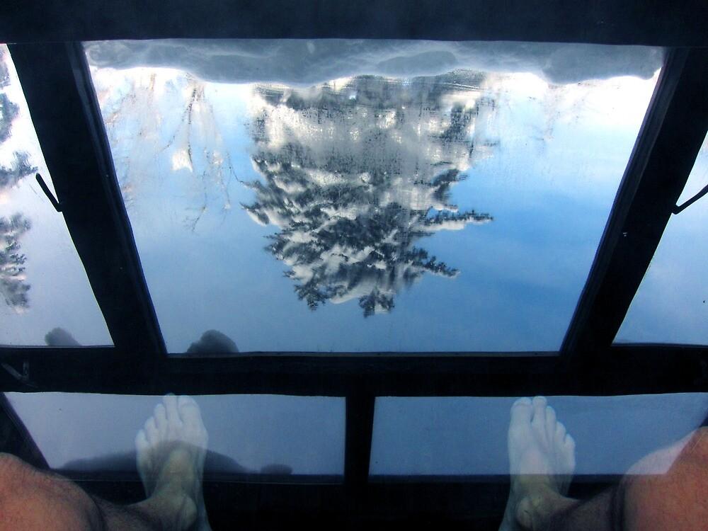 Reflection in Onsen, Asahidake, Hokkaido, Japan by Mike Banks