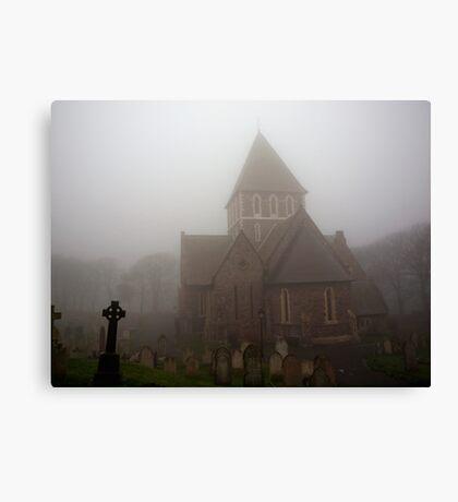Fog in the Graveyard Canvas Print