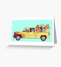 Cat wagon Greeting Card