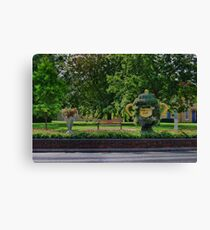Rugby world cup flowers Canvas Print