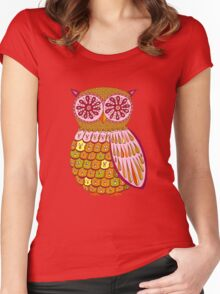 Retro Owl Shirt Women's Fitted Scoop T-Shirt