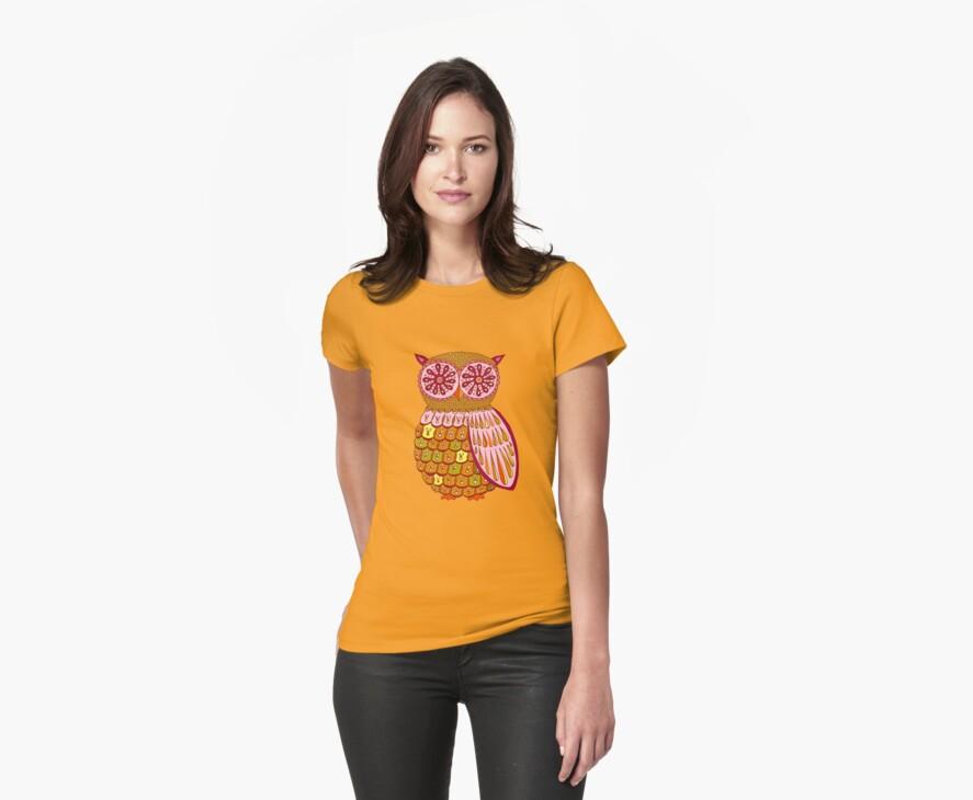 Retro Owl Shirt by Thaneeya McArdle
