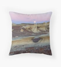 Moonrise and Toadstools Throw Pillow