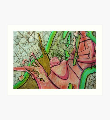 324 - STRING ART III - DAVE EDWARDS - MIXED MEDIA - 2011 Art Print