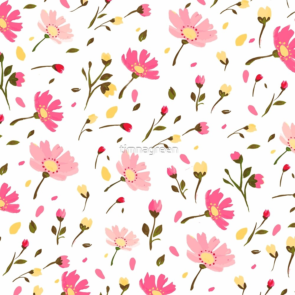 Pink floral pattern by timnagreen