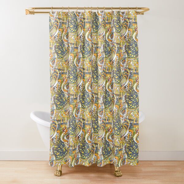 The Day the Circus Came to Town Shower Curtain
