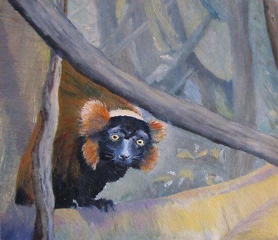 Lemur - Bronx Zoo by P. Leslie Aldridge