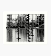 Pond sculptures. La Défense ,Paris  Art Print