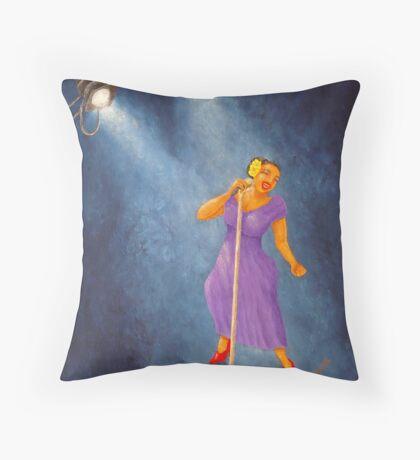 LATINA JAZZ DIVA   Throw Pillow