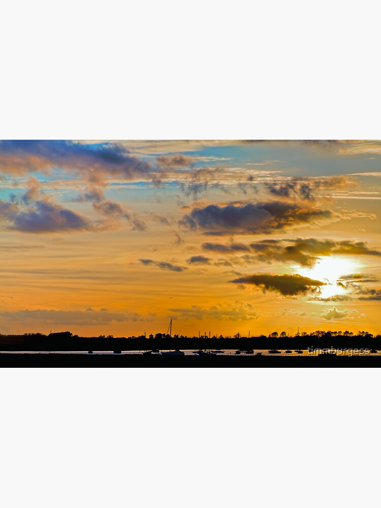 Sunset over River Alde by timmburgess