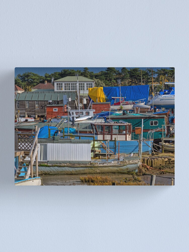 Alternate view of House Boat City Canvas Print