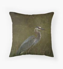 The Heron Throw Pillow