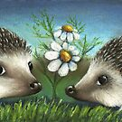 Hedgehogs on a date by tanyabond