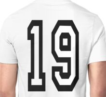 19, TEAM SPORTS, NUMBER 19, NINETEEN, NINETEENTH, Competition,  Unisex T-Shirt