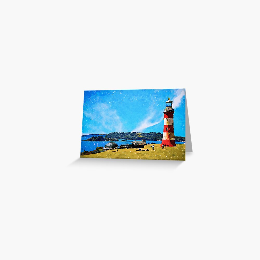 Smeaton's Tower in Plymouth Greeting Card