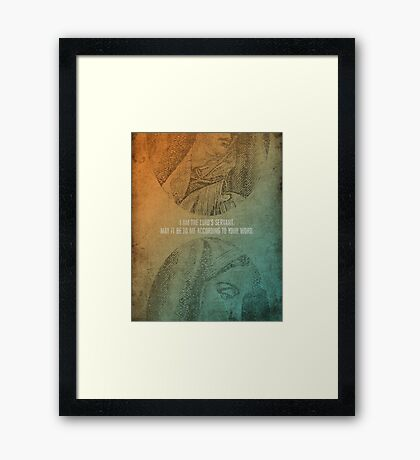 Word: Luke (The Lord's Servant) Framed Print