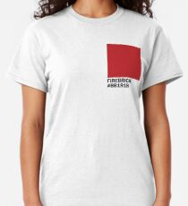 Firebrick color with Hex code Classic T-Shirt
