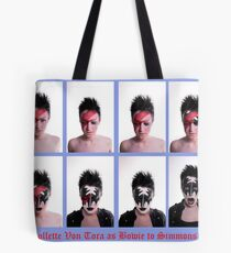 Collette Von Tora Morphs From Bowie To Simmons Tote Bag