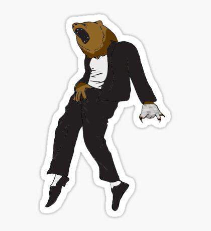 Michael Jackson Bear Sticker