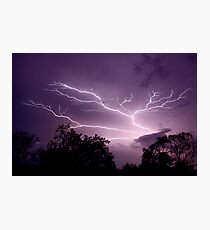 Lightning reaching up to the sky Photographic Print