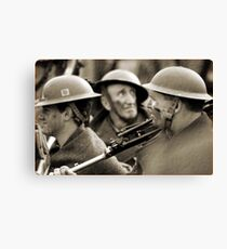 faces of war  Canvas Print
