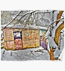 The Old Stable - Winter Countryside - Shropshire UK Poster