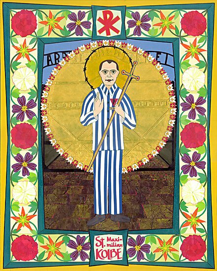 Icon of St. Maximilian Kolbe by David Raber