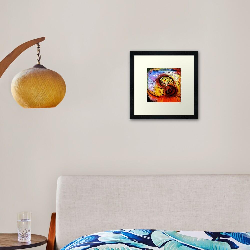 Space Breakfast Framed Art Print