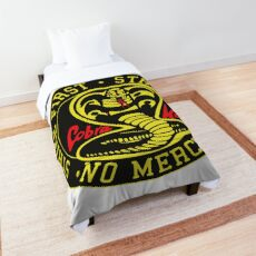 Cobra Kai - Strike First. Strike Hard. No Mercy.  Comforter