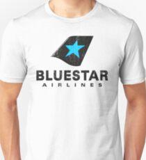 Camiseta ajustada BlueStar Airlines (apariencia gastada)
