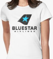 BlueStar Airlines (worn look) Women's Fitted T-Shirt