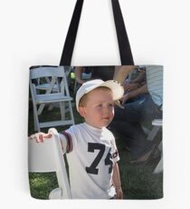 'I'M NOT SURE ABOUT THAT!' delightful little boy. Tote Bag