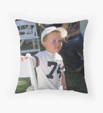 'I'M NOT SURE ABOUT THAT!' delightful little boy. Throw Pillow