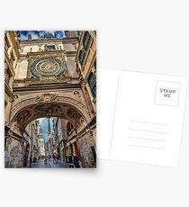 France. Normandy. Rouen. The Great Clock. Postcards