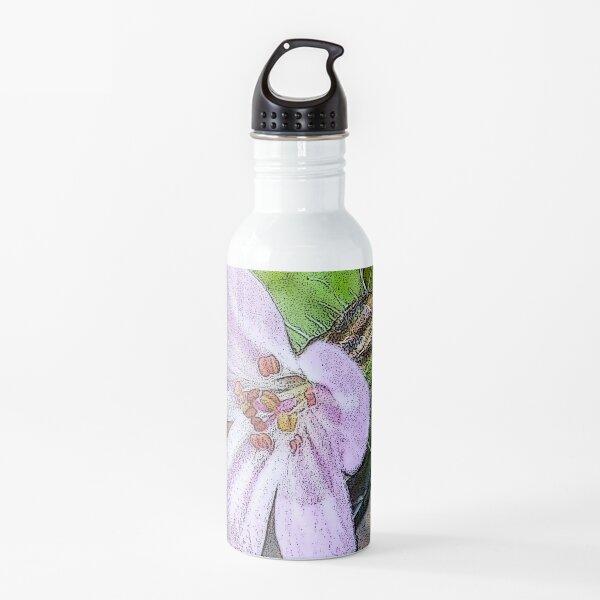 Posterized Herb Robert Water Bottle