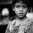 B/W portrait - Indonesian Boy 2 by kaledyson