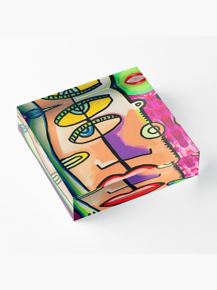 Alternate view of Too Close Abstract Art Painting by Jelene.com Acrylic Block