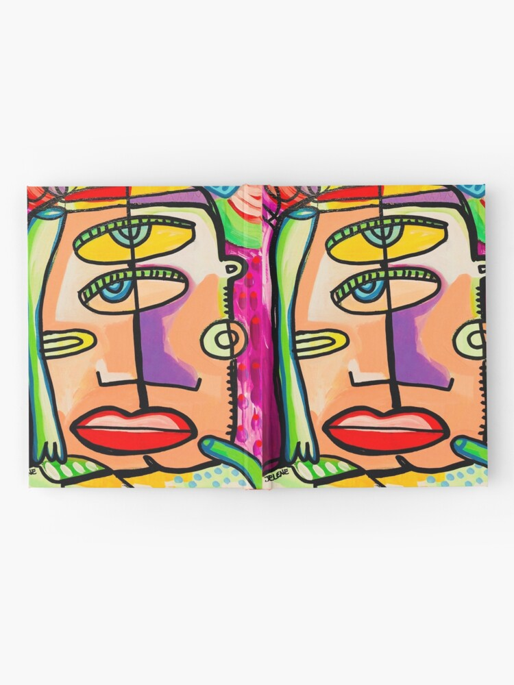 Alternate view of Too Close Abstract Art Painting by Jelene.com Hardcover Journal