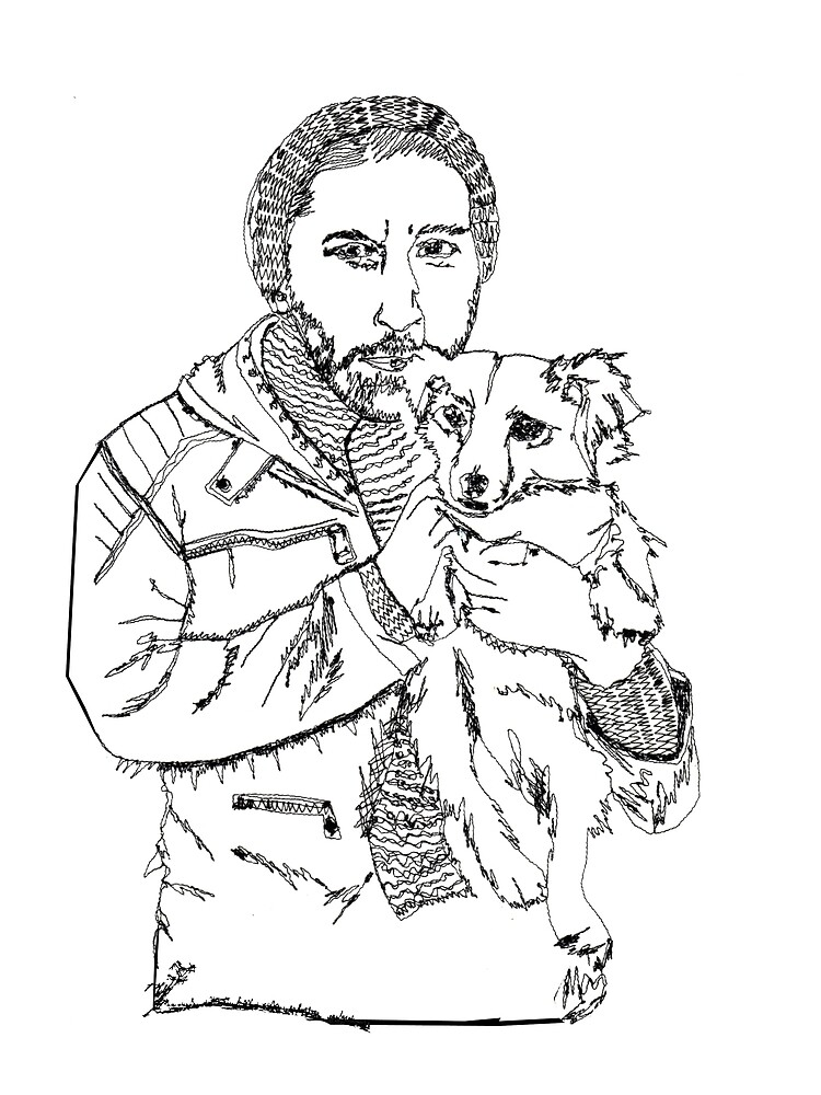 Man with dog in his arms - faith and truth by GundW