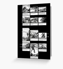 Mountain Odyssey (storyboard) Greeting Card