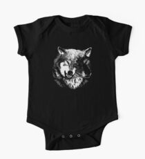 Two Headed Wolf One Piece - Short Sleeve