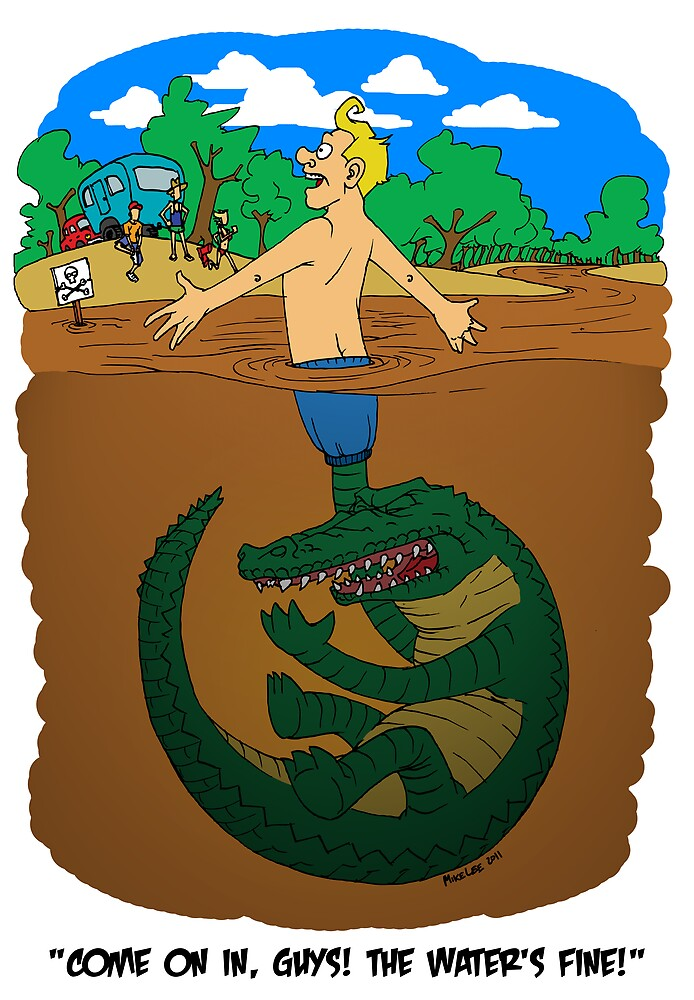 Croc Puppeteer / Human Fishing Lure by Michael Lee