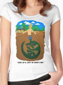 Croc Puppeteer / Human Fishing Lure - Light Women's Fitted Scoop T-Shirt