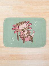 Halloween Axolotl - Mummy! Bath Mat