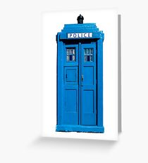 Traditional UK Police Box Greeting Card