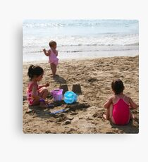 Sisters in the Sand Canvas Print