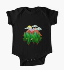 Abstract Landscape One Piece - Short Sleeve