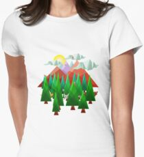 Abstract Landscape Women's Fitted T-Shirt