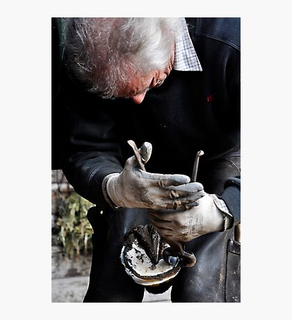 Farrier at work Photographic Print