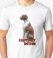 I Love My Boxer  Unisex T-Shirt